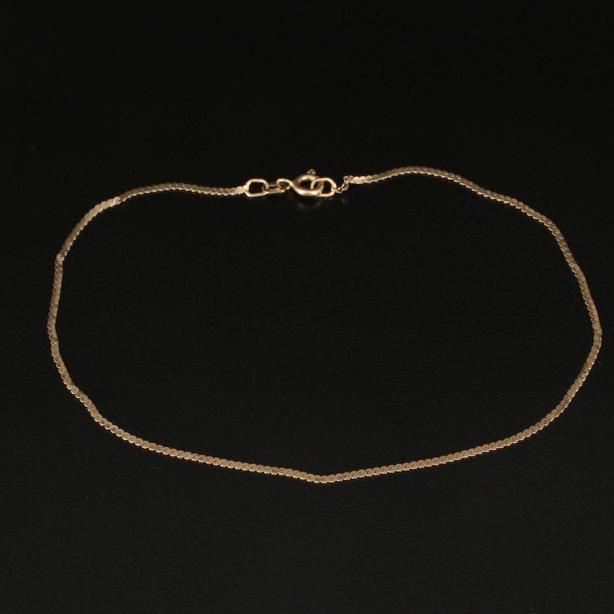 14K Serpentine Chain Anklet