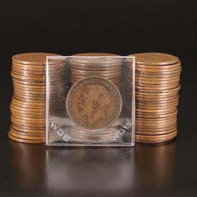 Eighty-Three British Pennies, 1902–1949