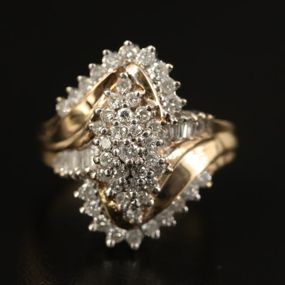 10K Diamond Tiered Ring