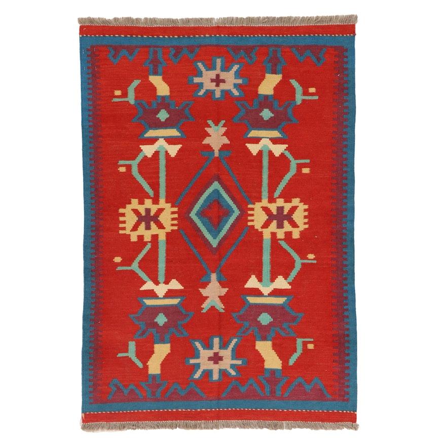 3'4 x 5'0 Handwoven Afghan Kilim Area Rug