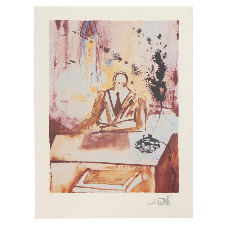 "Offset Lithograph after Salvador Dalí ""The Businessman"""