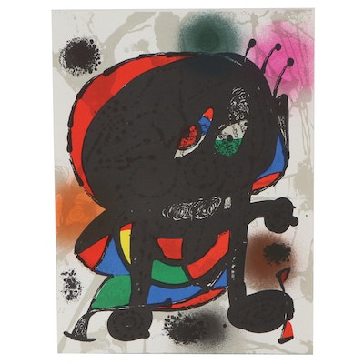 "Joan Miró Color Lithograph from ""Lithographs III"""