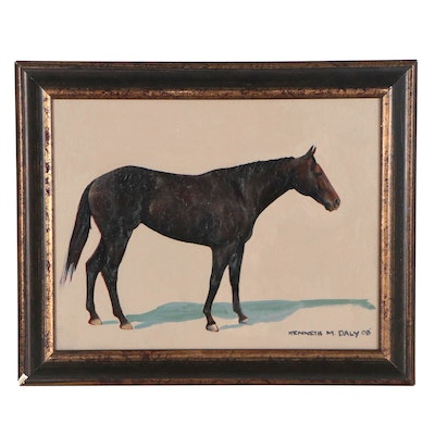 Kenneth M. Daly Equine Oil Painting, 2008