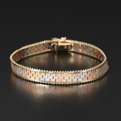 Italian 14K Tri-Color Gold Bracelet