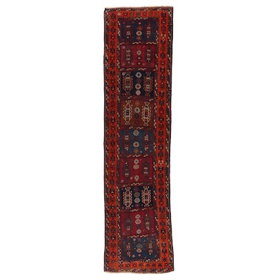 3' x 11'8 Hand-Knotted Caucasian Kazak Wool Carpet Runner