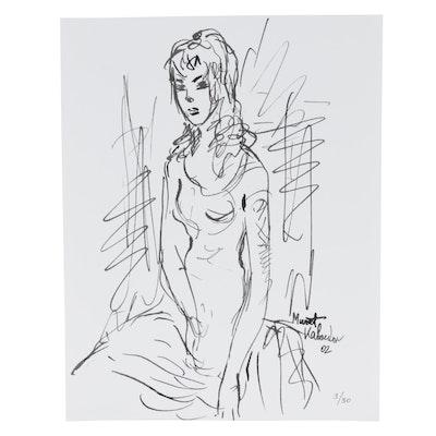 Murat Kaboulov Giclée of Female Figure, 2002