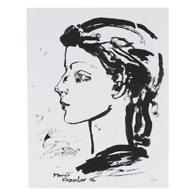 Murat Kaboulov Giclée of Abstract Portrait in Profile, 2002