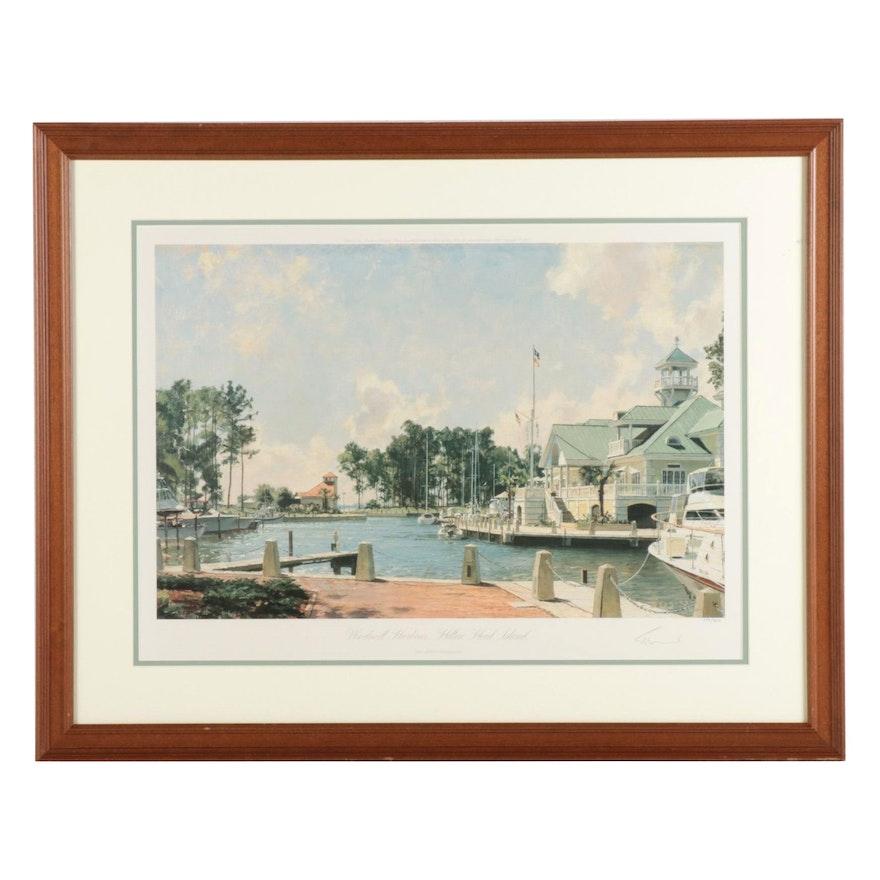 "John Stobart Offset Lithograph ""Windmill Harbour, Hilton Head Island"""