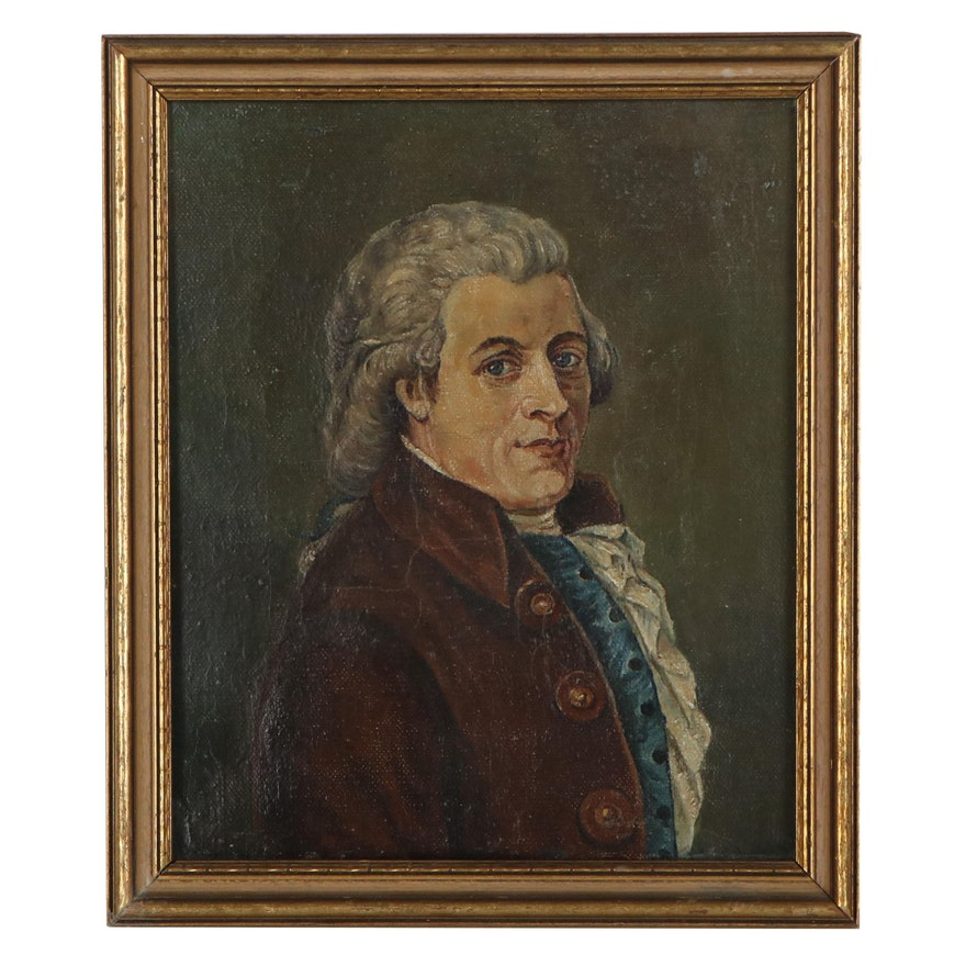 "Oil Painting after Johann Tischbein ""Portrait of Wolfgang Amadeus Mozart"""