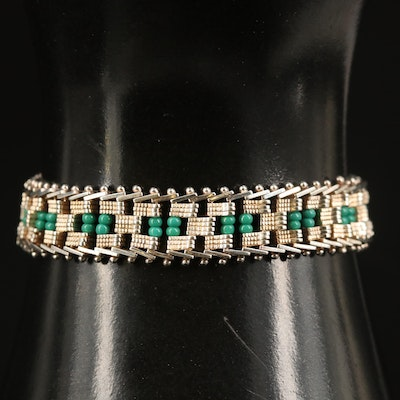 Sterling Glass Riccio Bracelet