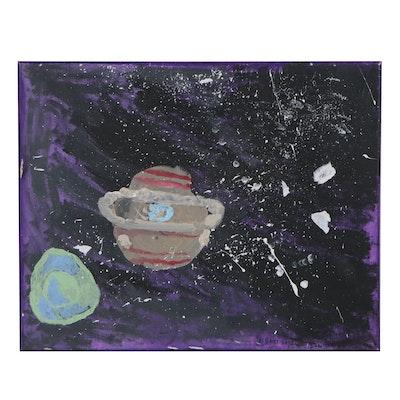 """Oluseyi Soyege Acrylic Painting """"Universe"""""""