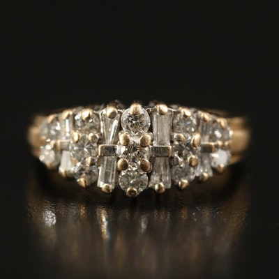14K 1.10 CTW Diamond Ring with Open Gallery