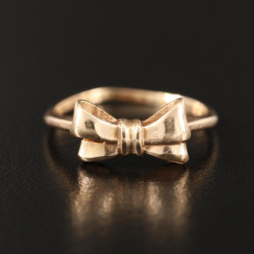 14K Bow Ring