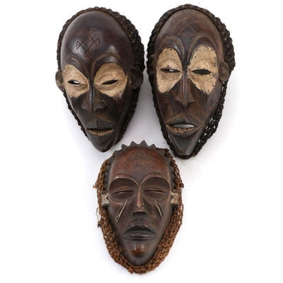 Chokwe Style Wood Masks, Central Africa