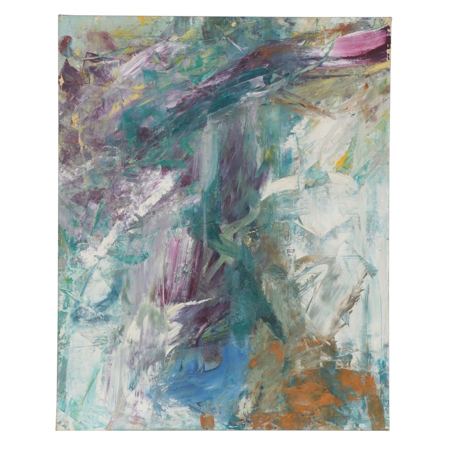 Richard Snyder Abstract Impasto Oil Painting, Mid to Late 20th Century