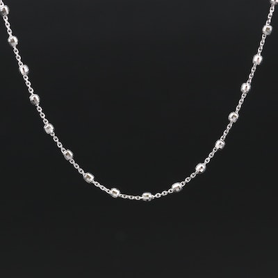 Turkish 14K Faceted Bead Station Necklace