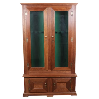 Cherrywood Gun and Ammunitions Display and Storage Cabinet