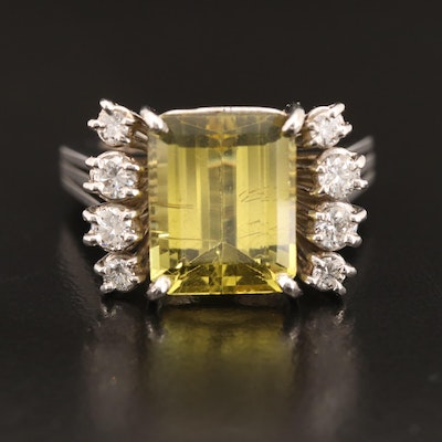 18K Chrysoberyl and Diamond Ring with GIA Report