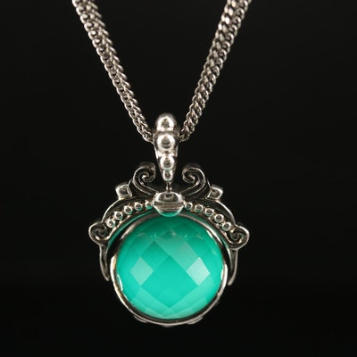 Stephen Webster Sterling Quartz Doublet Necklace