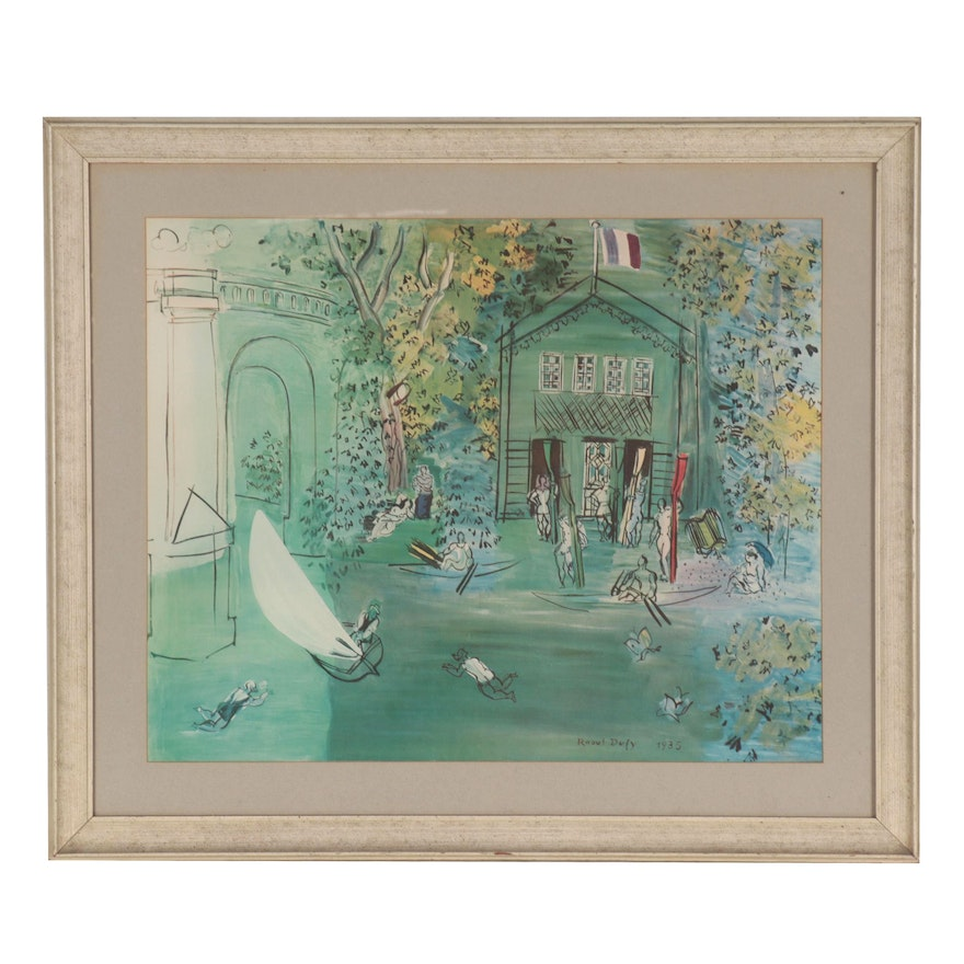 """Collotype after Raoul Dufy """"Canotage,"""" Mid-20th Century"""