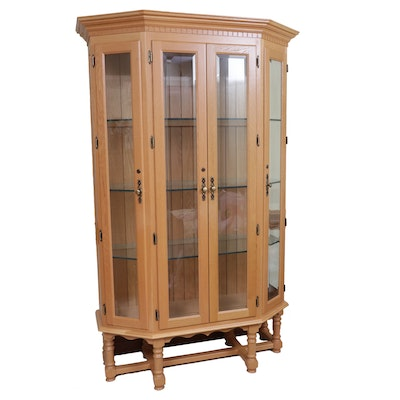 Illuminated Glass Paneled Display Cabinet