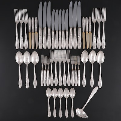 Bruckmann & Söhne and Other German  800 Silver Flatware and Serving Utensils