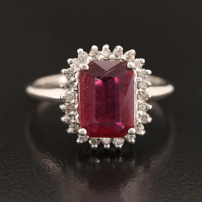 14K Corundum and Diamond Entourage Ring