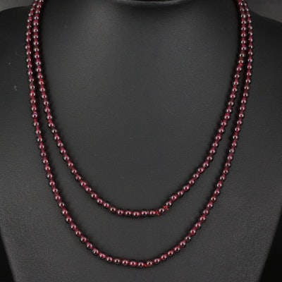 Rhodolite Garnet Endless Necklace