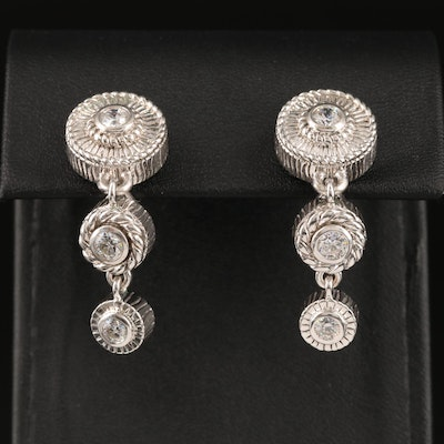 Judith Ripka Sterling Cubic Zirconia Tiered Earrings