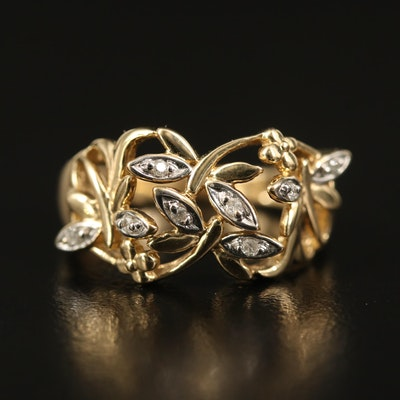 14K Diamond Dragonfly Ring
