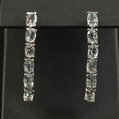 Sterling Aquamarine Dangle Earrings