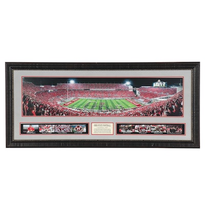 "The Ohio State ""Established 1890"" Commemorative Framed Football Photo Print"