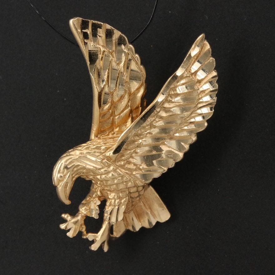 14K Eagle Pendant