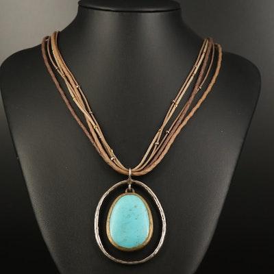Silpada Magnesite Pendant Necklace