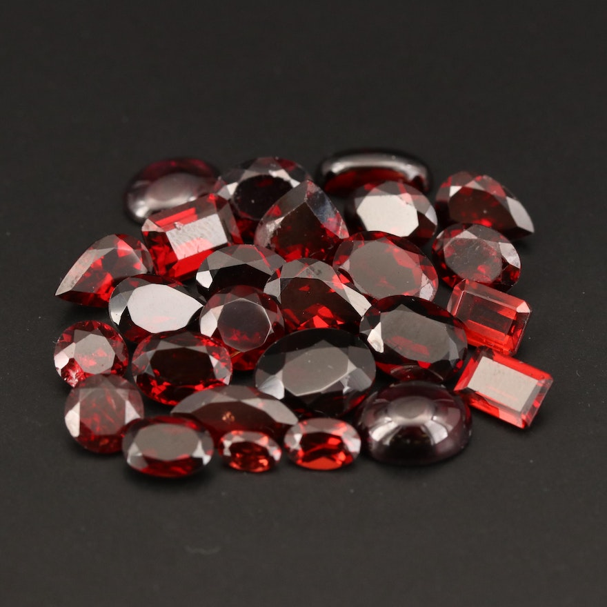 Loose 41.06 CTW Mixed Cut Garnets