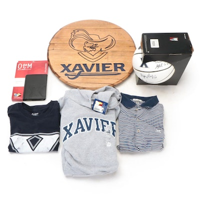 Xavier University Signed Basketball with Other Memorabilia