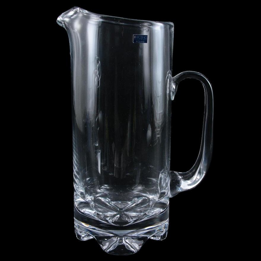 "Krosno ""York"" Blown Glass Martini Pitcher with Free Engraving"