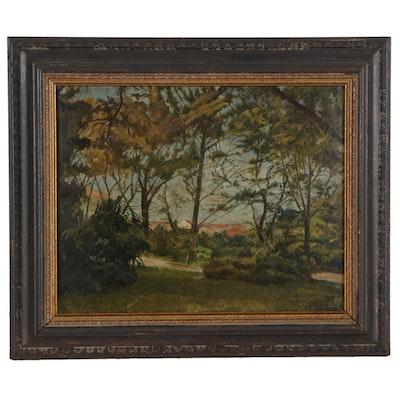 Isaías Newton Landscape Oil Painting, circa 1910