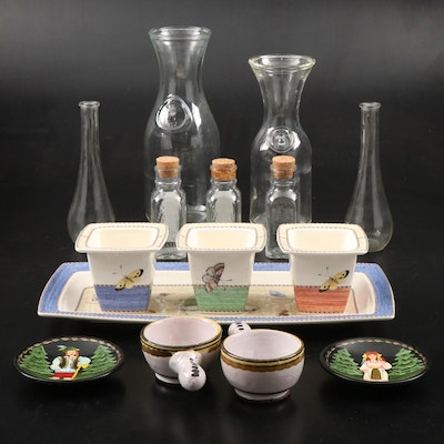 "Wedgwood ""Sarah's Garden"" Queen's Ware, Glass Bottles, and more"