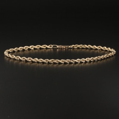 10K Rope Chain Anklet