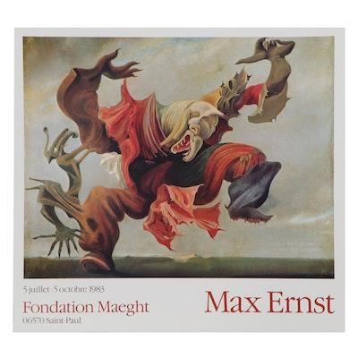 """Exhibition Poster after Max Ernst """"L'Ange du Foyer"""""""