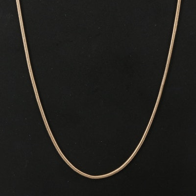 Italian 14K Snake Chain Necklace