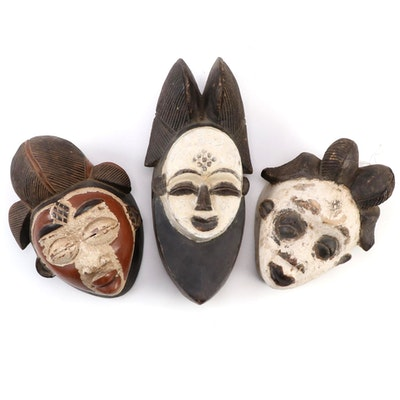 Punu Style Wood Masks, Central Africa
