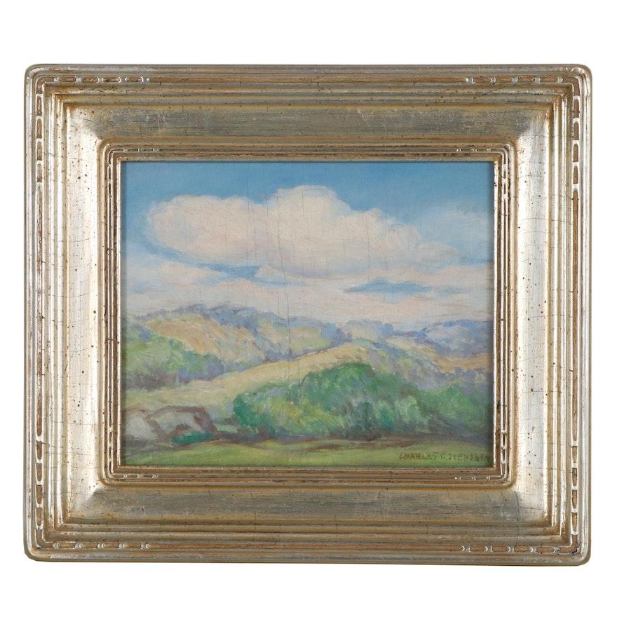 Charles C. Svendsen Landscape Oil Painting, Mid-20th Century