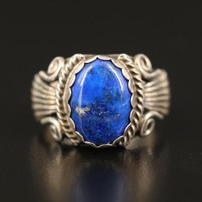 Western Sterling Lapis Lazuli Ring