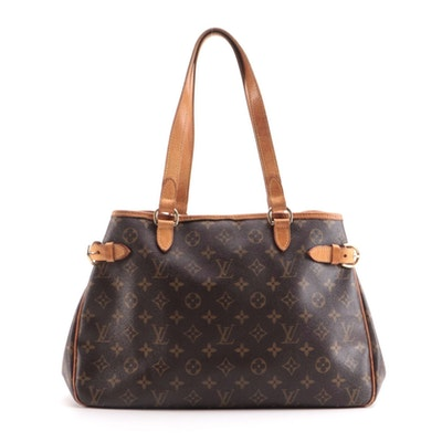 Louis Vuitton Batignolles Horizontal Bag in Monogram Canvas with Leather Trim