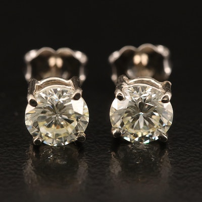 14K 1.83 CTW Round Brilliant Diamond Stud Earrings