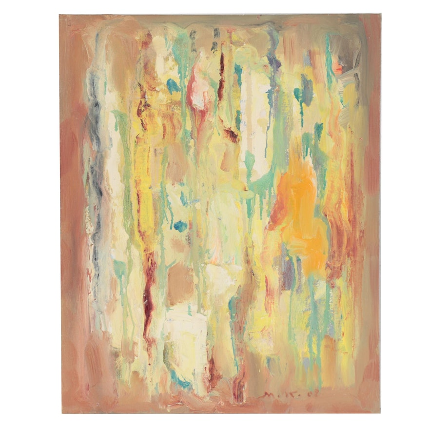 """Murat Kaboulov Abstract Oil Painting """"#499,"""" 21st Century"""