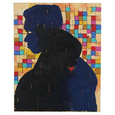 "Oluseyi Soyege Acrylic Painting ""Lean on Me..."""