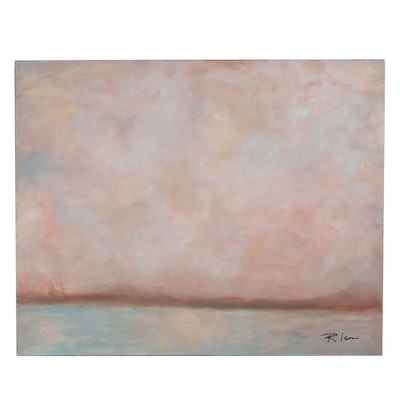 Rebecca Ison Atmospheric Abstract Landscape Oil Painting